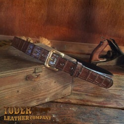 Alligator Skin Leather Belt
