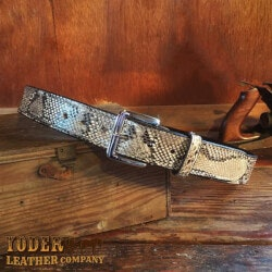 Natural Python Skin Leather Belt