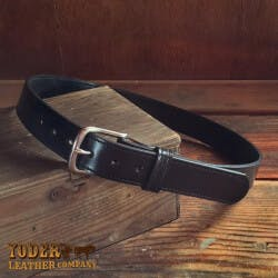 Amish Crafted Black Stitched Bridle Leather..