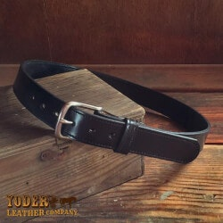 Birthday Gifts for Men Under $50:Amish Crafted Black Stitched Bridle Leather..
