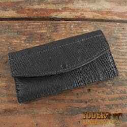 Amish Crafted Black Shark Skin Leather..
