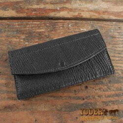 Amish Shark Skin Leather Clutch