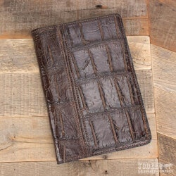 Gifts for Pilots:Amish Crafted Brown Alligator Skin Business..