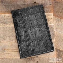 Gifts for Boss:Amish Crafted Black Alligator Skin Business..