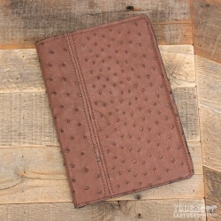 Gifts for Boss:Amish Crafted Brown Ostrich Skin Business..