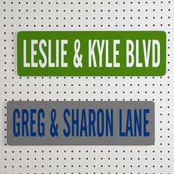 Personalized Street Signs For Couples