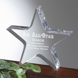 Personalized Gifts for Men:Personalized All Star Leaders Acrylic Award
