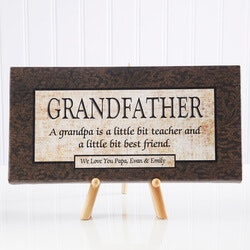 Personalized Grandfather Gift Canvas Art
