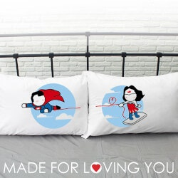 Anniversary Gifts for Girlfriend:Couples Pillowcases