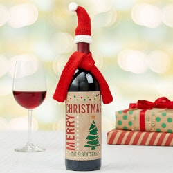 Personalized Gifts:Personalized Wine Bottle Labels - Christmas..