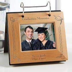 Personalized Graduation Flip Photo Album Frame