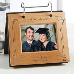 High School Graduation Gifts:Personalized Graduation Flip Photo Album Frame