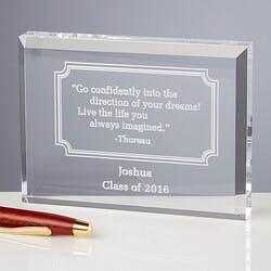 Personalized Inspirational Quotes Keepsake..