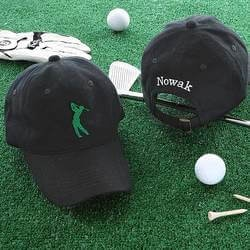 Golf Christmas Gifts for Coworkers:Golf Fan Personalized Golf Hat - Black