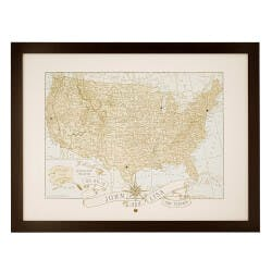 Personalized Anniversary Pushpin USA Map