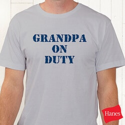 Personalized Gifts for Dad:On Duty Personalized T-Shirt For Parents,..