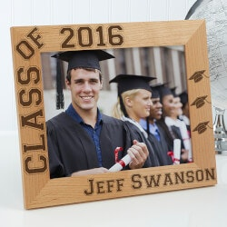 High School Graduation Gifts:Personalized Wooden Graduation Photo Frame -..