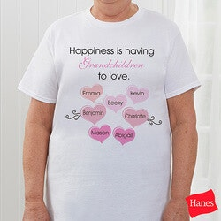 Birthday Gifts for Mom:Personalized Ladies T-Shirt