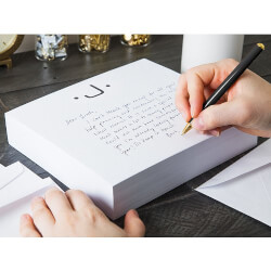 Initialed Notepad Stationery