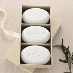 Mr & Mrs Personalized Wedding Soap Set