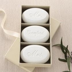 Mr & Mrs Personalized Wedding Soap Set