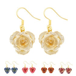 Unique Birthday Gifts for Mom:Gold Dipped Rose Earring