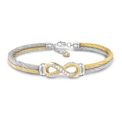 Gifts for Mom:Infinite Love Engraved Bracelet