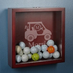 Retirement Gifts:Personalized Golf Cart Shadow Box Display