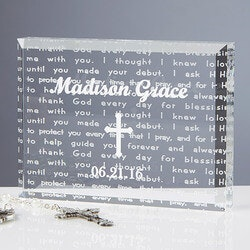 Walk With Jesus Personalized Baptism Gift..
