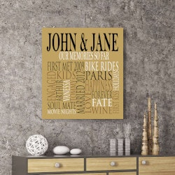 Personalized Gifts (Under $50):Our Memories So Far Canvas