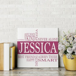 Gifts for Teenage Girls:Name & Interests Canvas