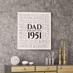 Birthday Gifts for Men:A Very Special Dad Canvas