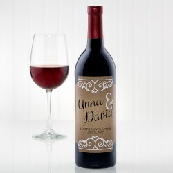 Best Gifts of 2019:Personalized Rustic Wedding Wine Bottle Labels