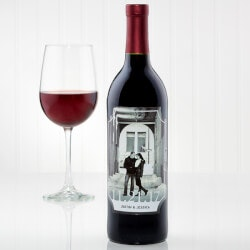 Personalized Gifts:Personalized Our Wedding Photo Wine Bottle..
