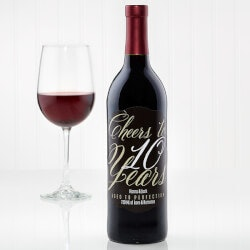 Personalized Gifts:Personalized Anniversary Wine Bottle Labels