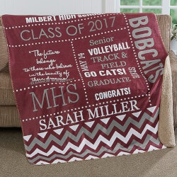 High School Graduation Gifts:Personalized Blanket For Graduation 60x80 -..