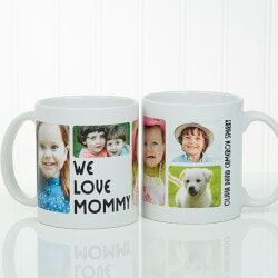 Personalized Gifts (Under $10):Personalized 5 Photo Coffee Mugs - 11oz White
