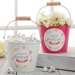 Personalized Gifts (Under $10):Flower Girl Personalized Mini Metal Bucket -..