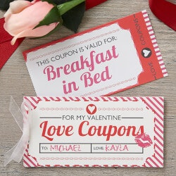Romantic Valentines Day Gifts (Under $10):Personalized Coupon Booklet