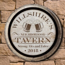 Birthday Gifts for Boyfriend Under $50:Ales And Tales Neighborhood Tavern Custom..