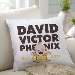 Gifts for Baby Under $50:New Baby Throw Pillow