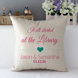 Personalized Gifts for Husband:Where It All Started Pillow