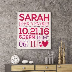 Birthday Memory Canvas