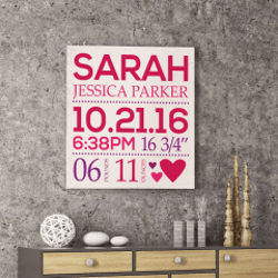 Gifts for Baby:Birthday Memory Canvas