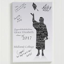 Graduation Gifts for Teenage Boys:Graduation Guestbook Custom Art Print - 24x36