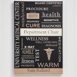 Personalized Doctor Art 12x18 Custom Word..