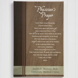 Physicians Prayer 24x36 Personalized Canvas..