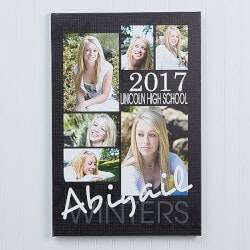 Personalized Gifts for Teenage Boys:Graduation Photo Canvas