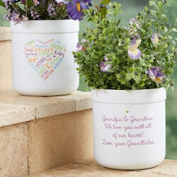 Personalized Gifts (Under $50):Personalized Flower Pots - Close To Her Heart