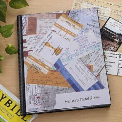 Personalized Christmas Gifts for Sister:Personalized Ticket Stub Scrapbook